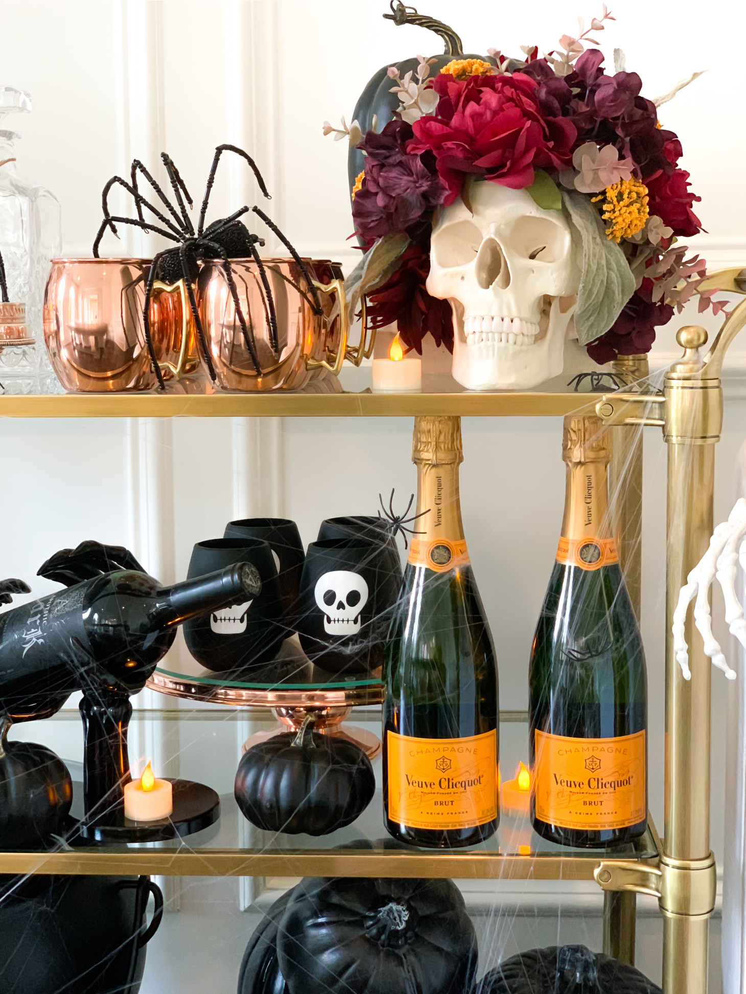 A Haunted Halloween Bar Cart